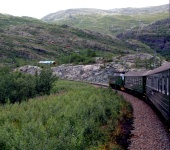Norway Train Scenes - Downward to Fjord