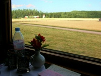 Russia Train - St. Petersburg to Helsinki - View from the Compartment